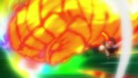 Natsu's combined fist attack