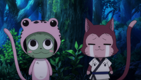 Lector and Frosch watch Yukino and Sorano