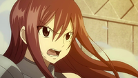 Erza tries to reason with Minerva
