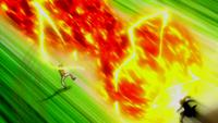 Natsu ataca a Max anime