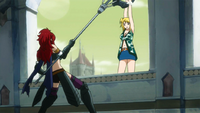 Knightwalker trying to kill Lucy