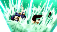 Juvia badly hurted by Meredy's blades