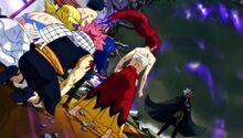 Equipo de Natsu vs Hades