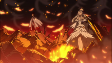 Ángel con cobra destruyendo las iglesias de Zentopia