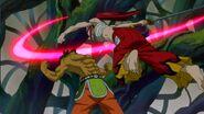 Azuma dodges Erza's slash