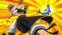 Natsu defeats Eizi and Pand