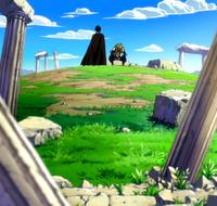 Rogue and Sting at ruins