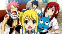 Team Natsu's reaction to the new building