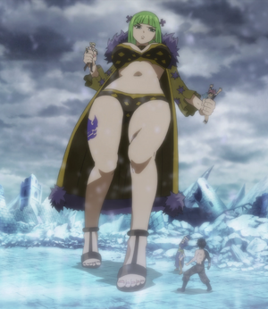 Brandish snatches Natsu and Lucy