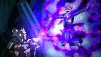 Byro sucking Natsu's magic out