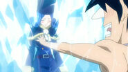 Gray grabs Juvia's breast