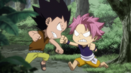 Little Natsu and Gajeel's fights