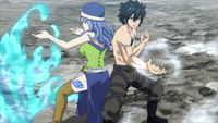 Gray and Juvia team up against Avatar