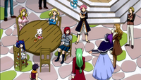 The guild discussing with the Raijinshuu