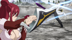 Erza slashes Jerome