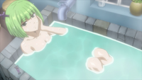 Brandish appears in Lucy's bathroom