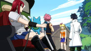 Lucy Tells Natsu, Erza, Gray and Happy about Lullaby