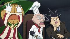 Mato, Yajima y Chapati horrorizados por Kagura
