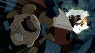 Natsu beats Karcka after he tries to kill his guildmate