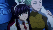 Kagura Satisfecha por la Victoria de Fairy Tail