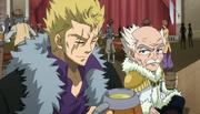 Laxus y Makarov tomando en el bar