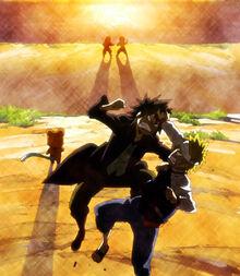 Natsu y Gray peleando como en el pasado
