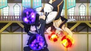 Natsu and Zeref exchange hits