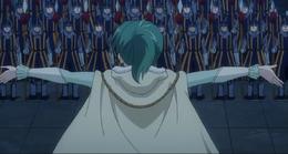 Hisui hablando con sus soldados