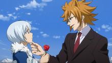 Loke coquetea con Yukino