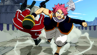 Natsu defeats piggy man