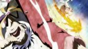 Natsu derrotando bora