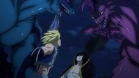 Twin Dragons vs. Scissor Runner & Levia
