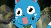 Happy cries after Natsu