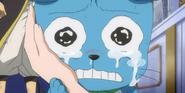 Happy llorando la muerte de Lucy futuro (anime)
