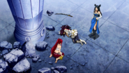Minerva drops the sword and gains the points