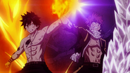 Gray and Natsu protect each other