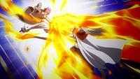 Natsu Punching Future Rogue