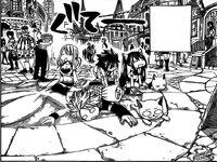 Natsu y los demas llegan a crocus