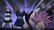 Natsu y Virgo Atrapados por Goumon