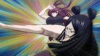 Erza kicks Minerva