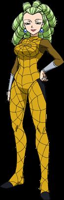 Araña's anime appearance
