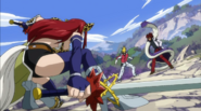 Erza Scarlet faces Cobra and Racer