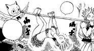 Natsu and Happy capture Lucy