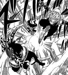Sting y Rogue llegan para salvar a Natsu.