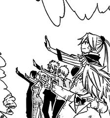 Blue Pegasus y Anna entregando su poder mágico a Lucy