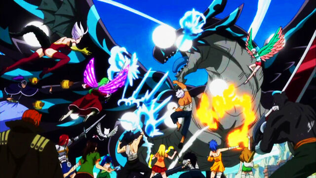 File:Fairy Tail attacks Acnologia.jpg