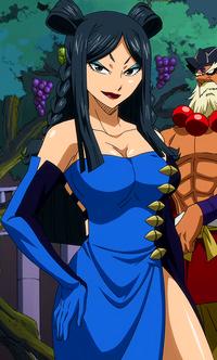 Minerva apariencia en el anime