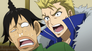 Laxus attempts to communicate with the Tribe