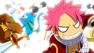 Natsu and Happy desperately look for something