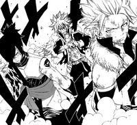 Sting, Natsu and Rogue take on Mard Geer
